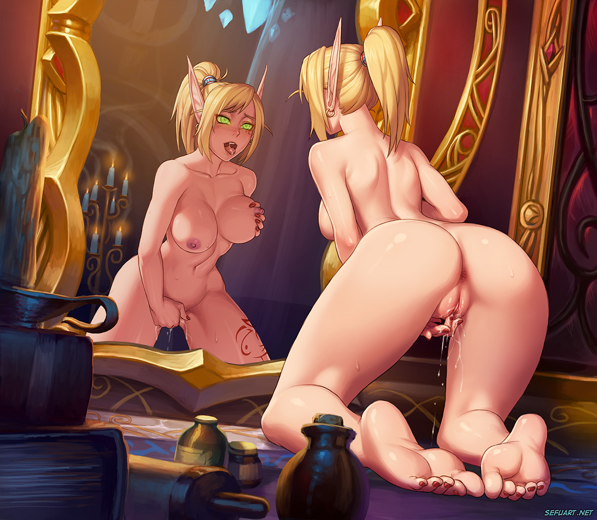 World of warcraft blood elf lesbian sex porn image